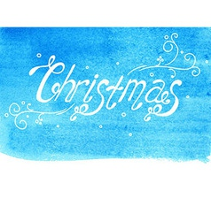 Watercolor christmas type vector