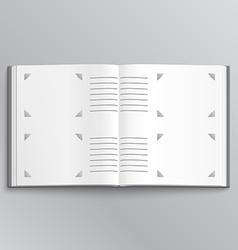 Blank photo album vector