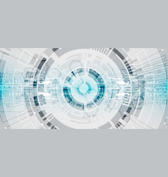 abstract circle technology concept circuit board vector image