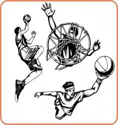 basketboll vector image vector image