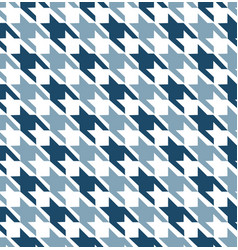 Blue mix hounds tooth seamless pattern vector