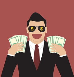 Businessman hands holding banknotes vector image vector image