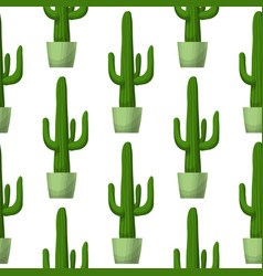 Cactus - floral seamless pattern vector