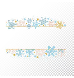 christmas snow flake frame transparent background vector image vector image