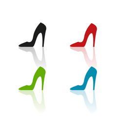 Colour heels icons vector