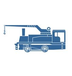 Crane tank steam locomotive vector