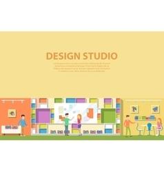 Creative graphic studio design interior vector image