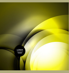 digital glowing waves and circles vector image vector image