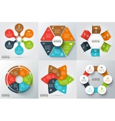 Elements for infographic vector