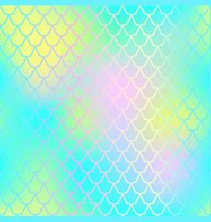 Fish skin seamless pattern mermaid skin vector