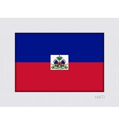 Flag of haiti aspect ratio 2 to 3 vector