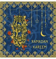 greeting card for muslim festival ramadan kareem vector image vector image