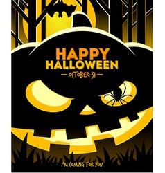Halloween smiling pumpkin vector image vector image