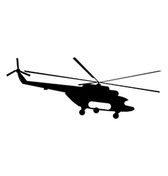Helicopter simple icon vector