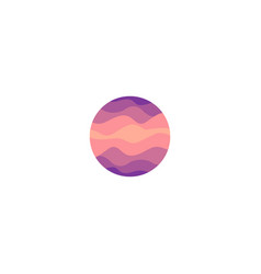 isolated abstract pink color round shape logo on vector image vector image