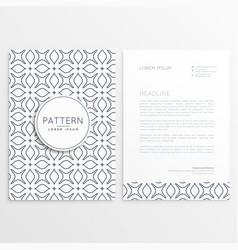 Letterhead design in minimal style vector