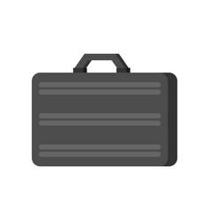 Metallic suitcase silver briefcase armored case vector