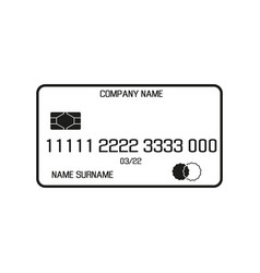 payment card sign black icon vector image vector image