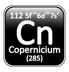 Periodic table element copernicium icon vector