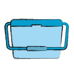 Portable fridge vector