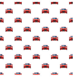 Red car pattern vector