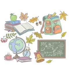 School Accessories vector image