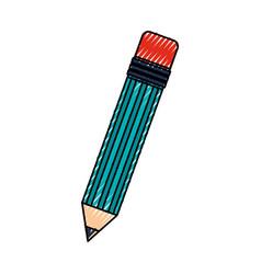 Scribble pencil cartoon vector