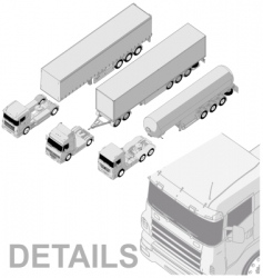 semi truck set vector image