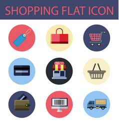 shopping flat icon vector image