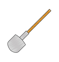 Shovel construction isolated icon vector