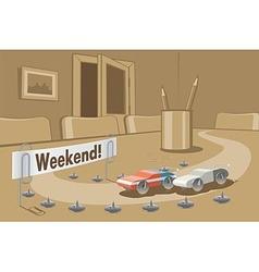 Weekend vector image vector image