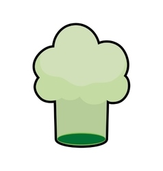 Chefs hat green vegan organic icon graphic vector