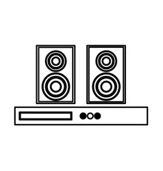 home theater speaker icon vector image