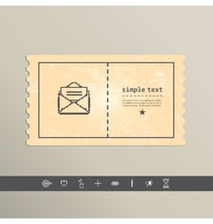 Simple stylish pixel icon envelope design vector