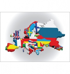 3d European map vector image vector image