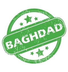 Baghdad green stamp vector