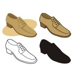 male shoe vector image