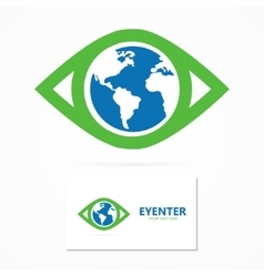 World eye design template vector