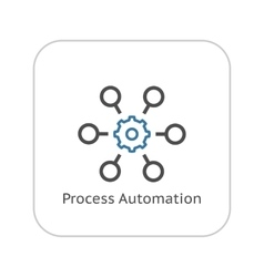 Process automation icon business concept flat vector