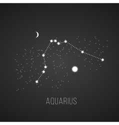 Astrology elements aquarius on black vector