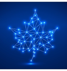 Maple leaf in abstract geometric shape vector