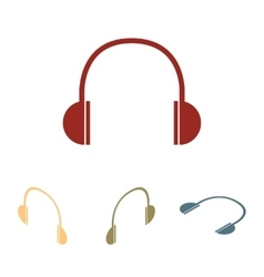 Headphones icon set isometric effect vector