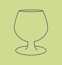 Brandy cognac glass vector