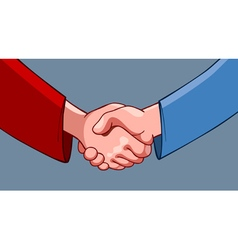 Cartoon handshake vector