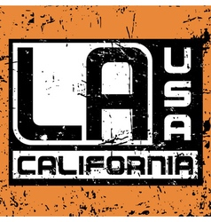 Los angeles city typography graphic grunge 2 vector