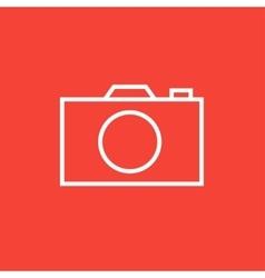 Camera line icon vector