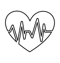 Healthy heart symbol isolated icon design vector