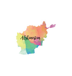 abstract afghanistan map vector image