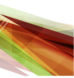 Abstract bright orange and green tech stripes vector