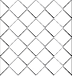 Black and white tile seamless background in grunge vector